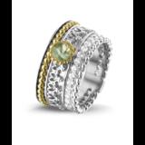 Zilveren ring gecombineerd met 14 krt rosé goud_