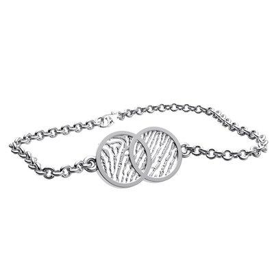 Armband infinty, open vorm, zilver