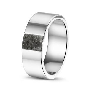 Stalen ring. Breedte: 8mm / 0.31 inch