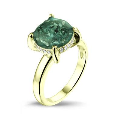 14 krt Gouden ring met diamant