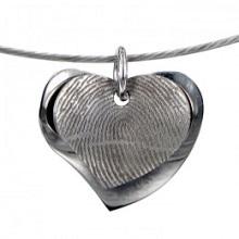RVS hartvormige hanger