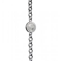 Zilveren armband met vingerafdruk en steen