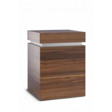 Natuurlijke urn Cube Decor Walnut