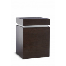 Natuurlijk urn Cube Decor - Wenge