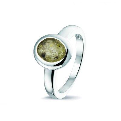 Zilveren ring, ovaal