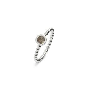 Zilveren ring rondje