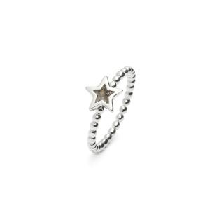Zilveren ring ster