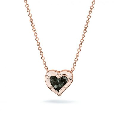 Zilveren hart hanger met zirkonia. Rose oplage