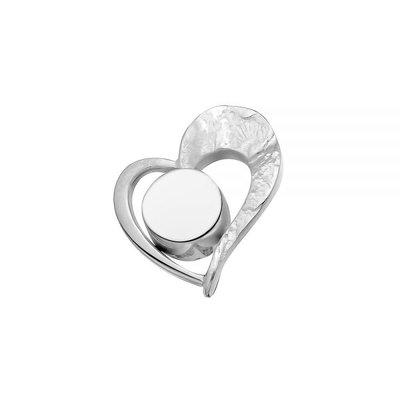Zilveren hanger, mat/glans. Lengte: 2.2 cm. Breedte: 1.8 cm