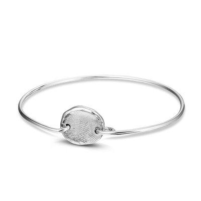 Zilveren armband met zilveren vingerafdruk