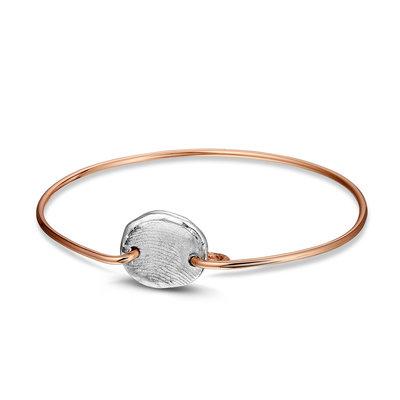 Rose gouden armband met zilveren vingerafdruk