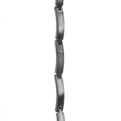 Zilveren vingerafdruk schakel armband