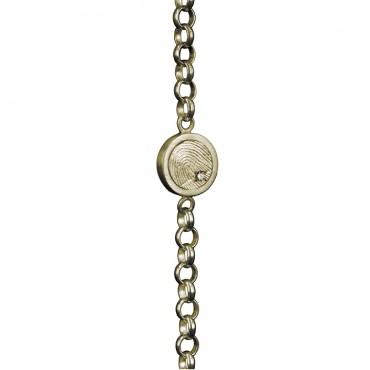 Gouden armband met vingerafdruk en steen