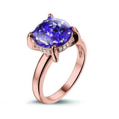14 krt Rosé gouden ring met diamant