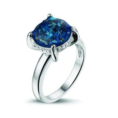 14 krt Wit gouden ring met diamant