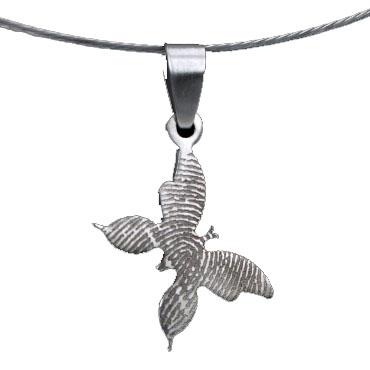 RVS hanger vlinder