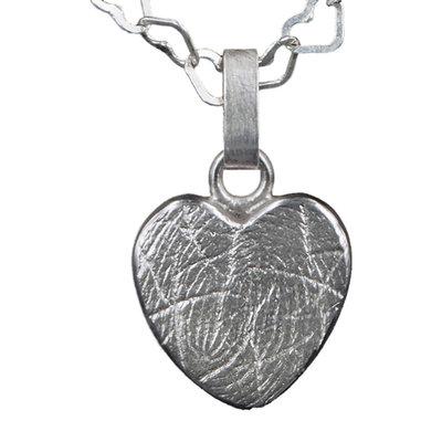 Zilveren hartvormige hanger
