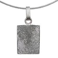 Zilveren rechthoekige hanger