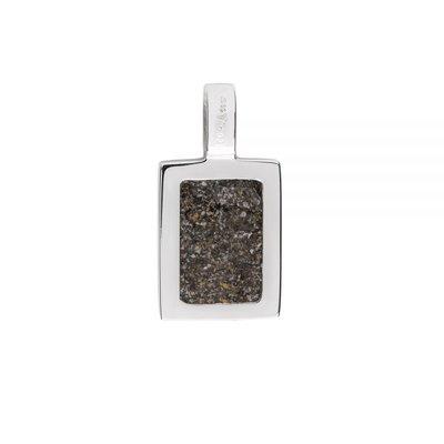 Rechthoekige hanger zilver