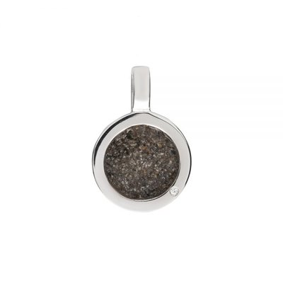 Ronde hanger zilver, met zirkonia steen