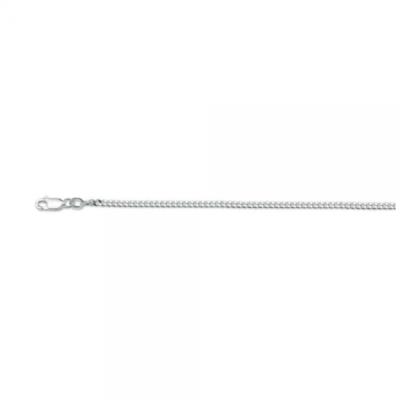 Zilveren gourmet collier, 50 cm