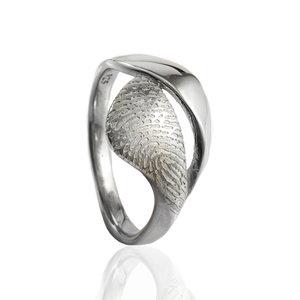 Organische ring met vingerafdruk