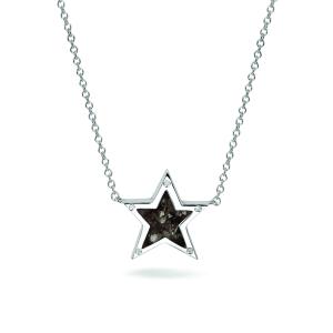 Zilveren ster hanger met zirconia