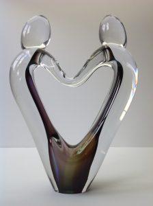 Glazen urn Love