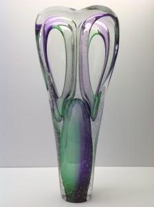Heartbeat glazen urn