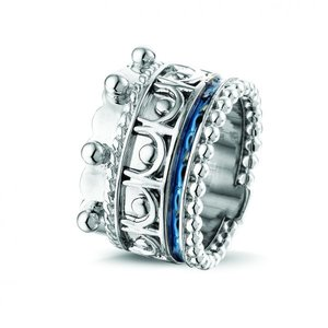 Zilveren ring met as