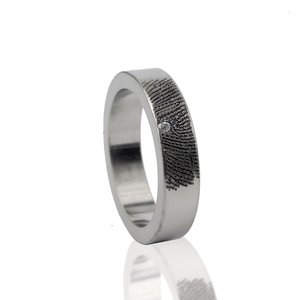 Vingerafdruk Ring met steen