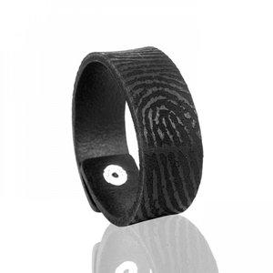 vingerafdruk armband kunststof