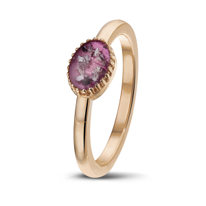 rose gouden ring met as